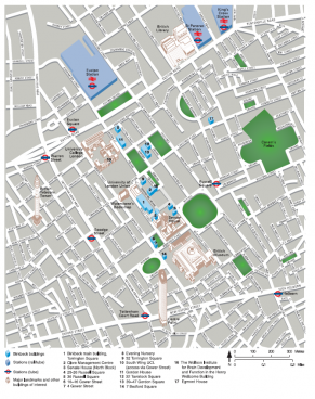 Directions transport maps and accommodation for the department of computer science and - University of london accommodation office ...