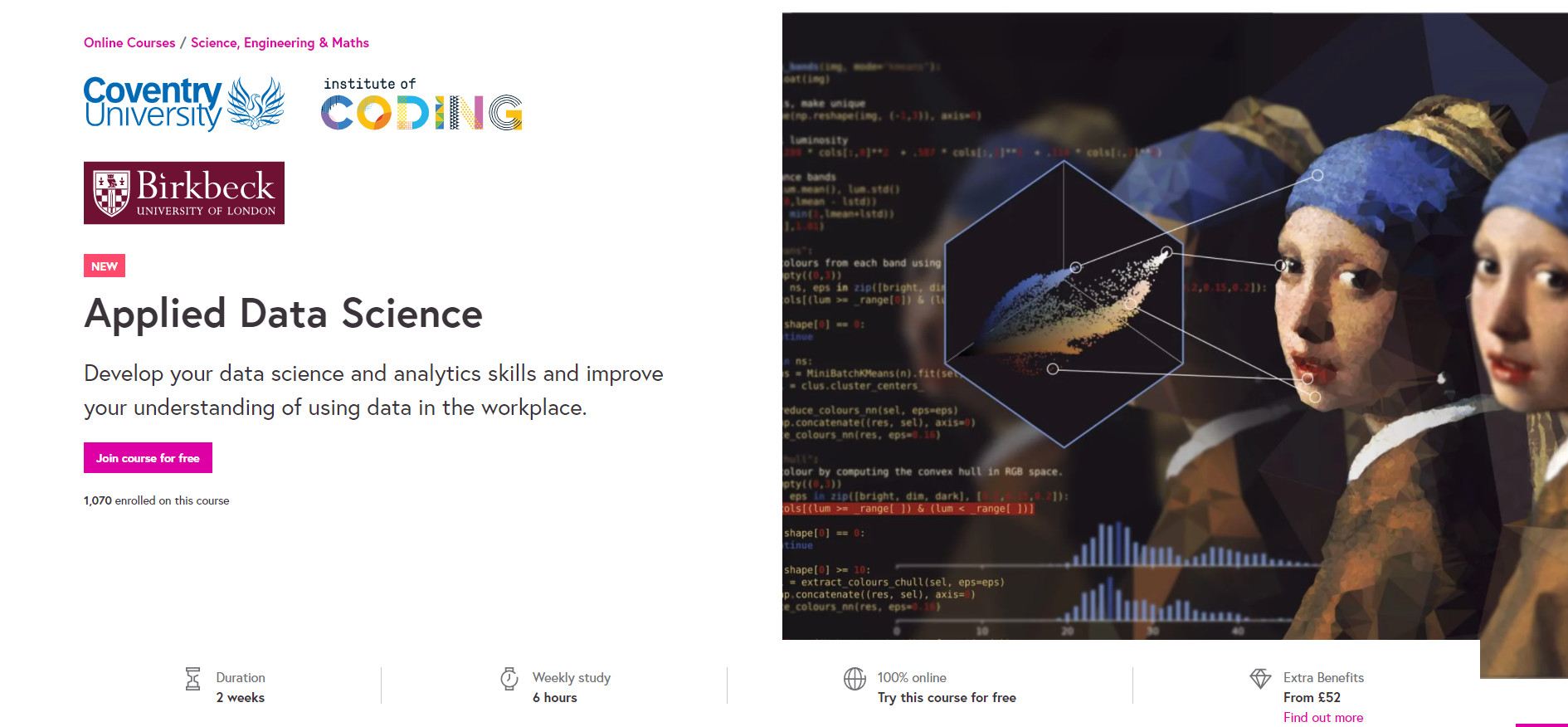 Free data science taster course